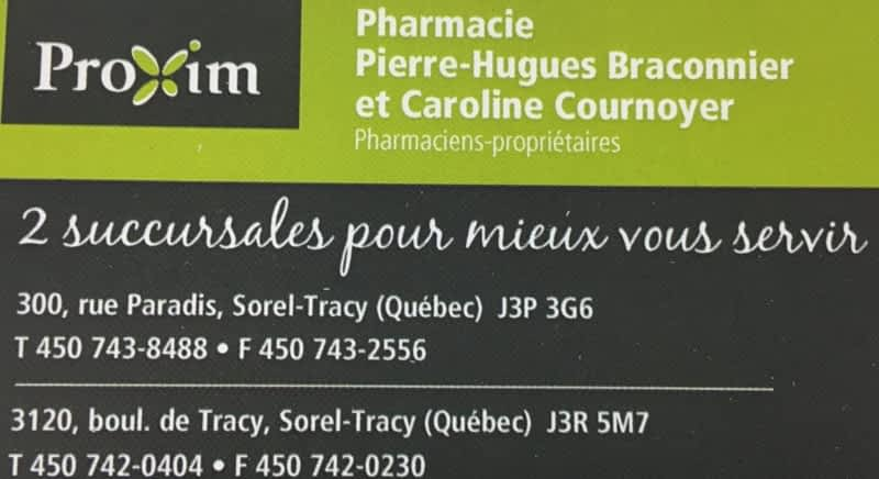 photo Proxim Affiliated Pharmacy - Braconnier & Cournoyer