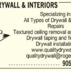 Quality Drywall & Interiors - Drywall Contractors & Drywalling