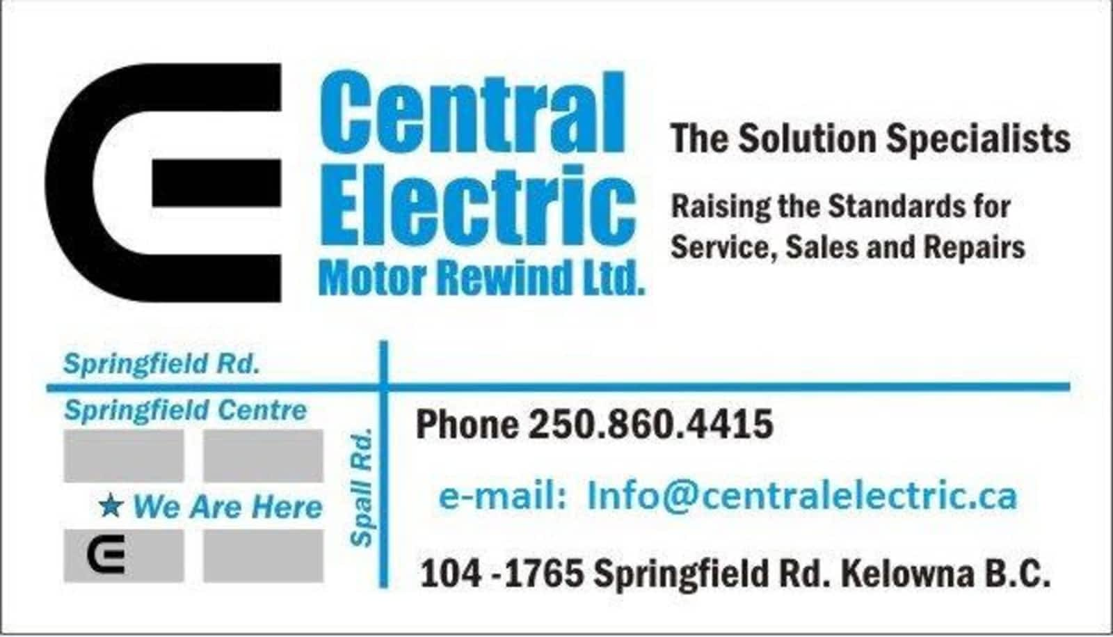 Central Electric Motor Rewind Ltd - Opening Hours - 104-1765 ...