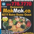 MakMak - Thai Restaurants - 514-778-7770