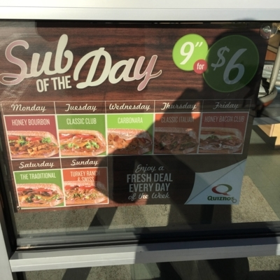 Quiznos Subs - Restaurants - 204-885-0500