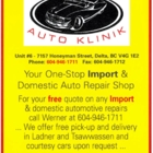 Werner's Auto Klinik - Car Repair & Service