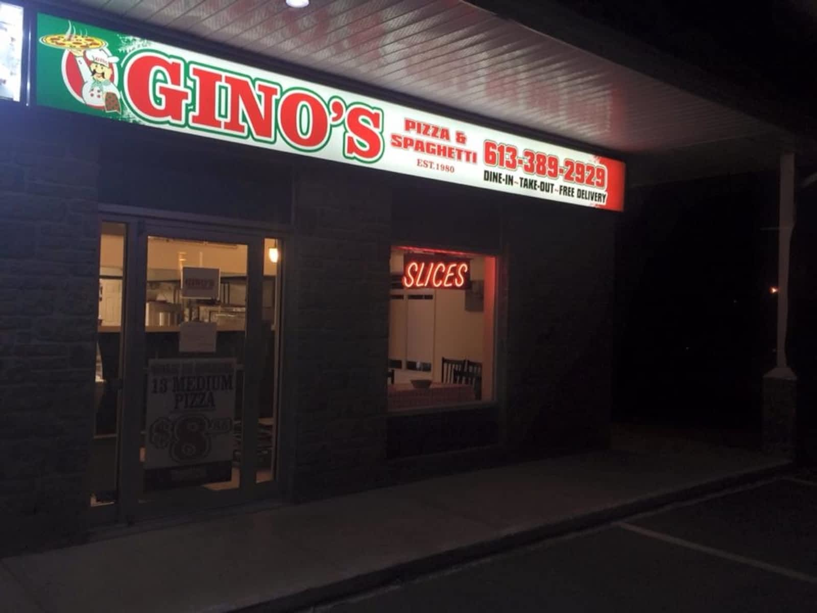 Ginos Pizza Spaghetti Menu Hours Prices 6 Speers Blvd A