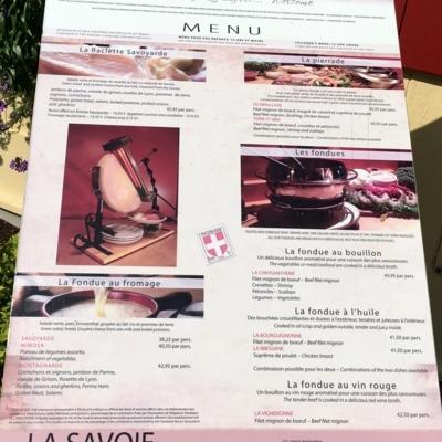 Restaurant La Savoie - Fondue