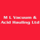 M L Vacuum & Acid Hauling Ltd - Oil Field Services