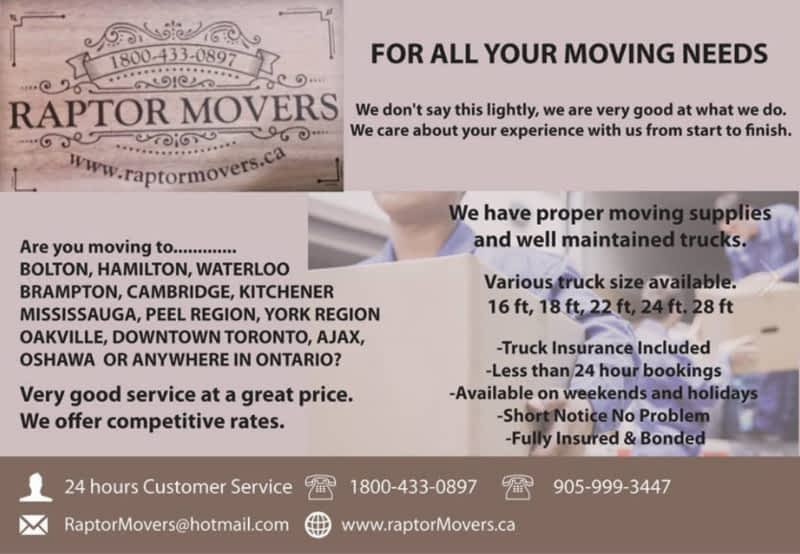 photo Raptor Movers Inc