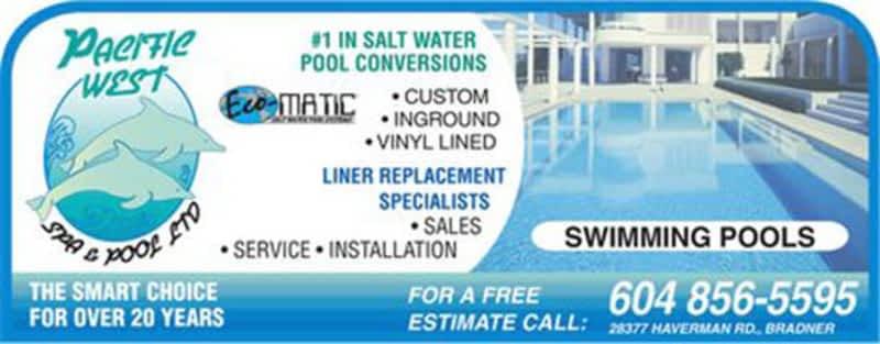Pacific West Spa Pool Ltd Salt Water Pool Conversions