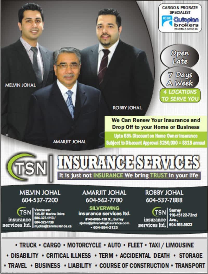TSN Insurance Services Ltd - Surrey, BC - 110-15122 72 Ave ...