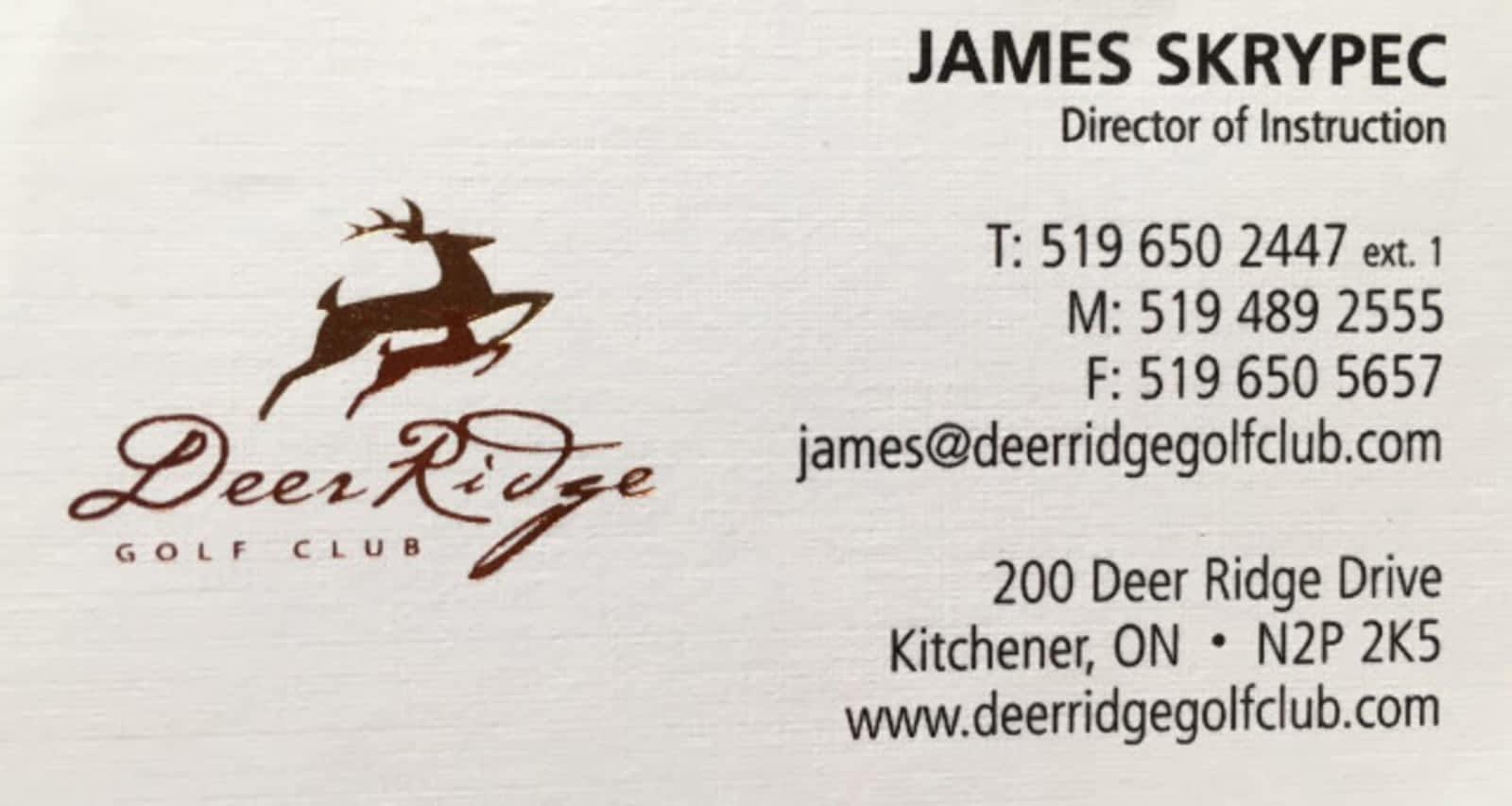 James Skrypec Golf - Opening Hours - 200 Deer Ridge Dr, Kitchener, ON