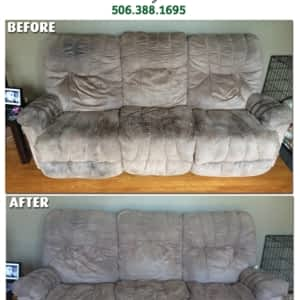 We keep your upholstery looking and smelling new and fresh!! - Reliable Carpet &; Before & After ...
