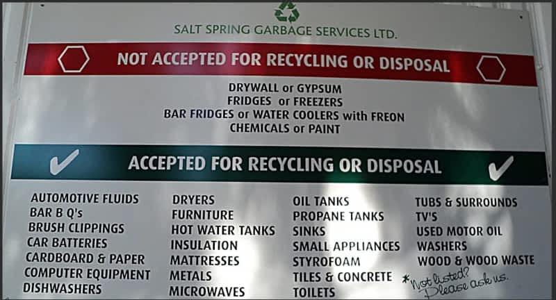 photo Salt Spring Garbage