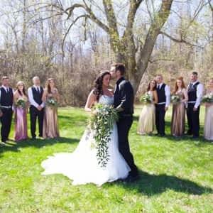 swiss wedding dress