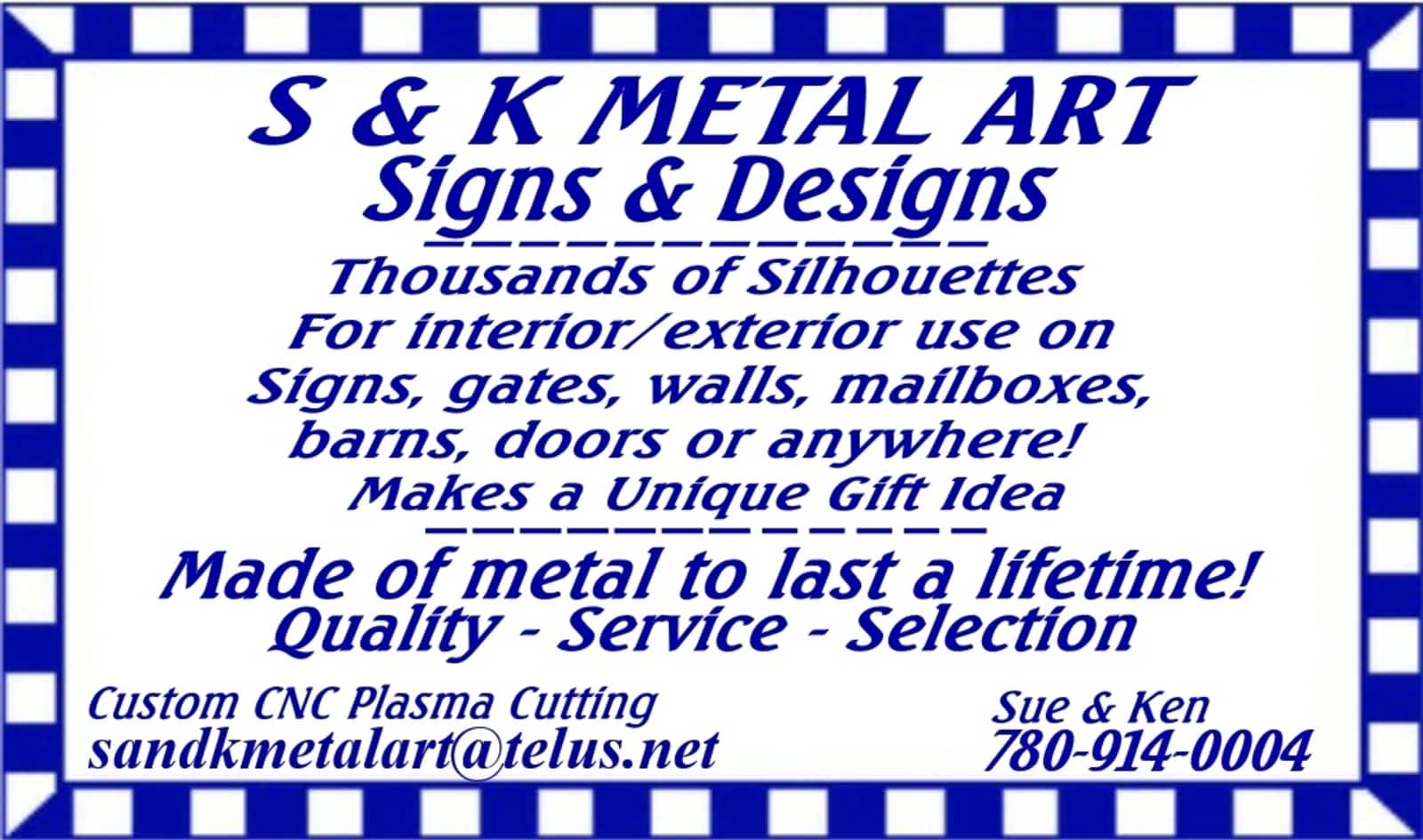 S&K MetalArt - Opening Hours - Lamont, AB