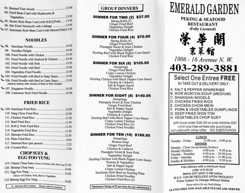 photo Emerald Garden Restaurant Inc