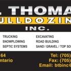 B Thomas Bulldozing Inc - Septic Tank Installation & Repair - 705-857-2298