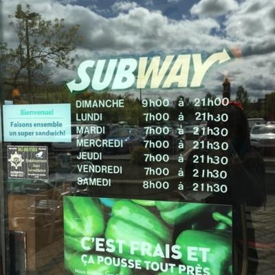 Subway - Plats à emporter - 514-732-4242