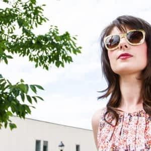 3e2b31e728b4 Stephanie Insurance Agent wearing Dolce Gabbana - Art Schmidt Optical ...