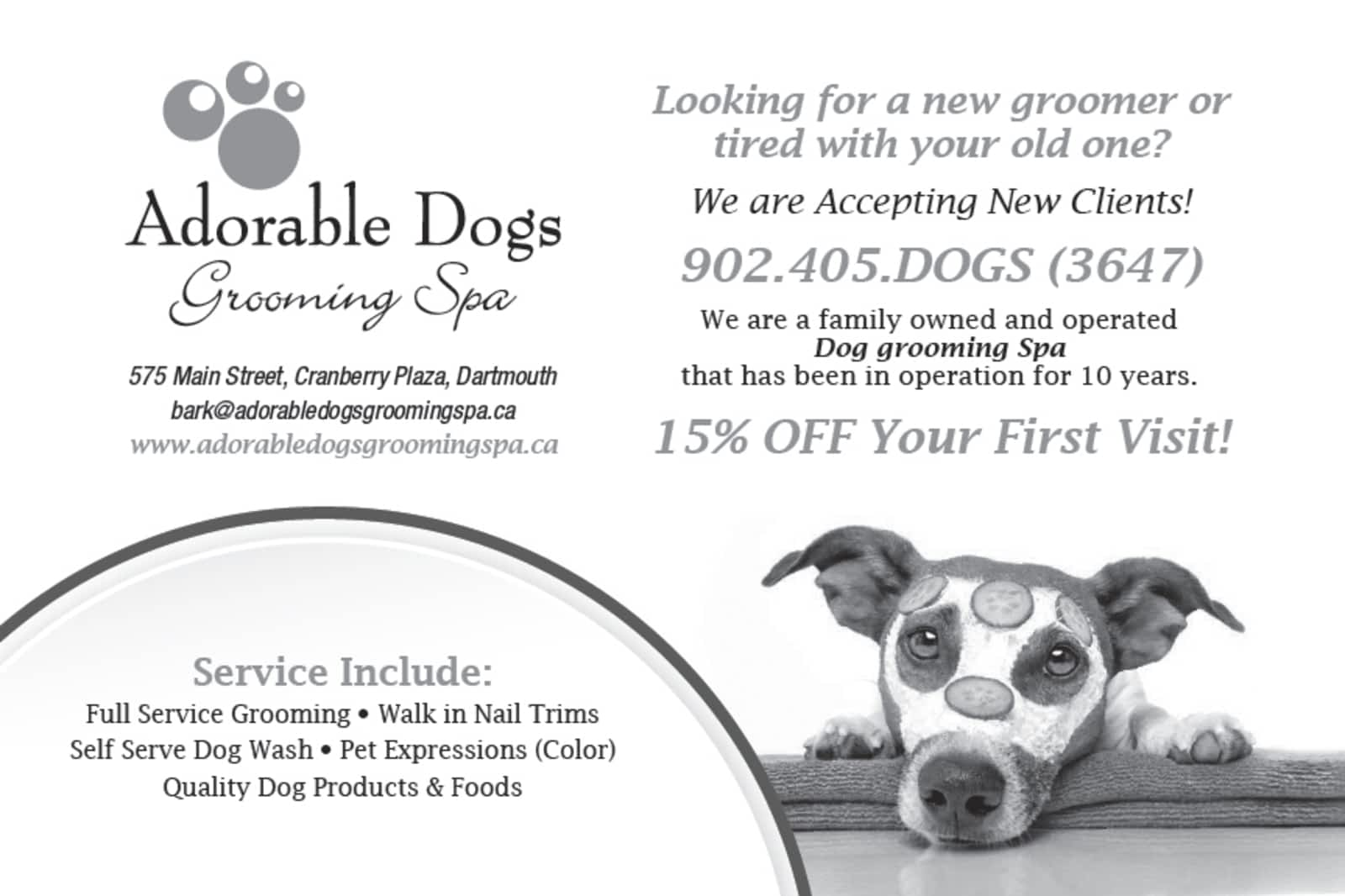 Adorable dogs grooming spa opening hours 575 main st dartmouth ns solutioingenieria Image collections