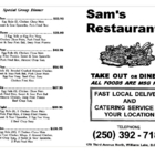 Sam's Restaurant - Asian Noodle Restaurants - 250-392-7181
