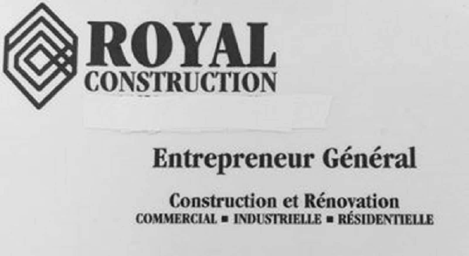 Royal Construction - Opening Hours - QC