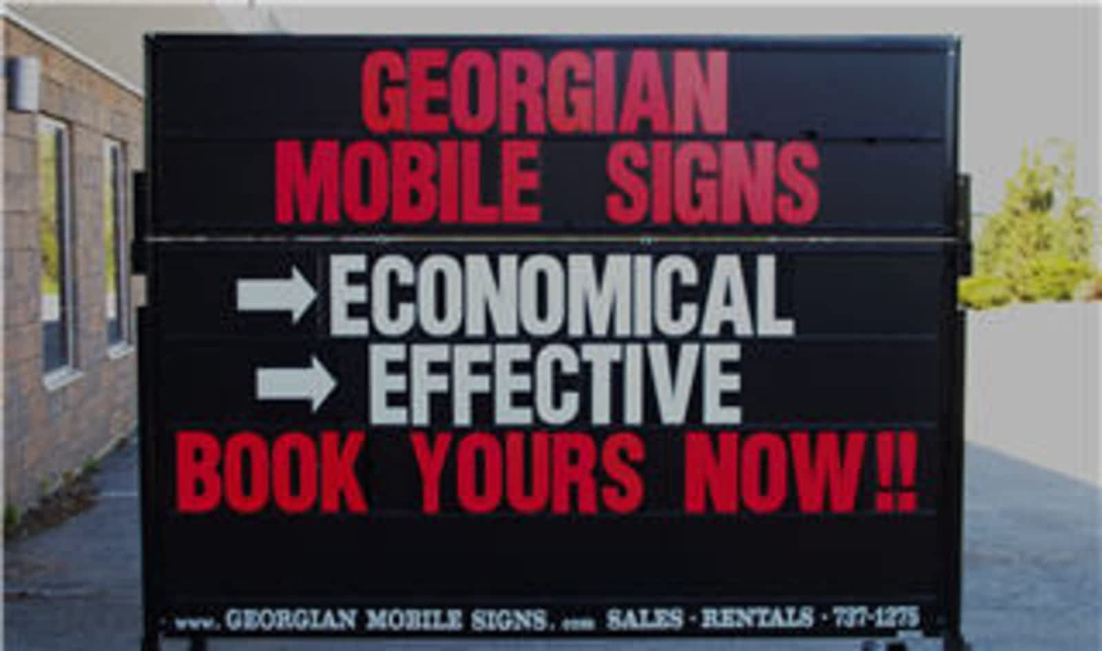 Georgian Mobile Signs - Opening Hours - 3-53 Churchill Dr