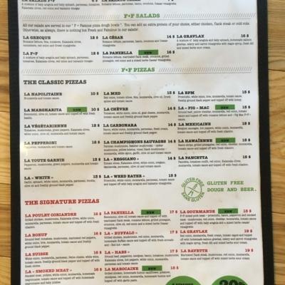 F+F Pizza - Restaurants - 514-769-1000