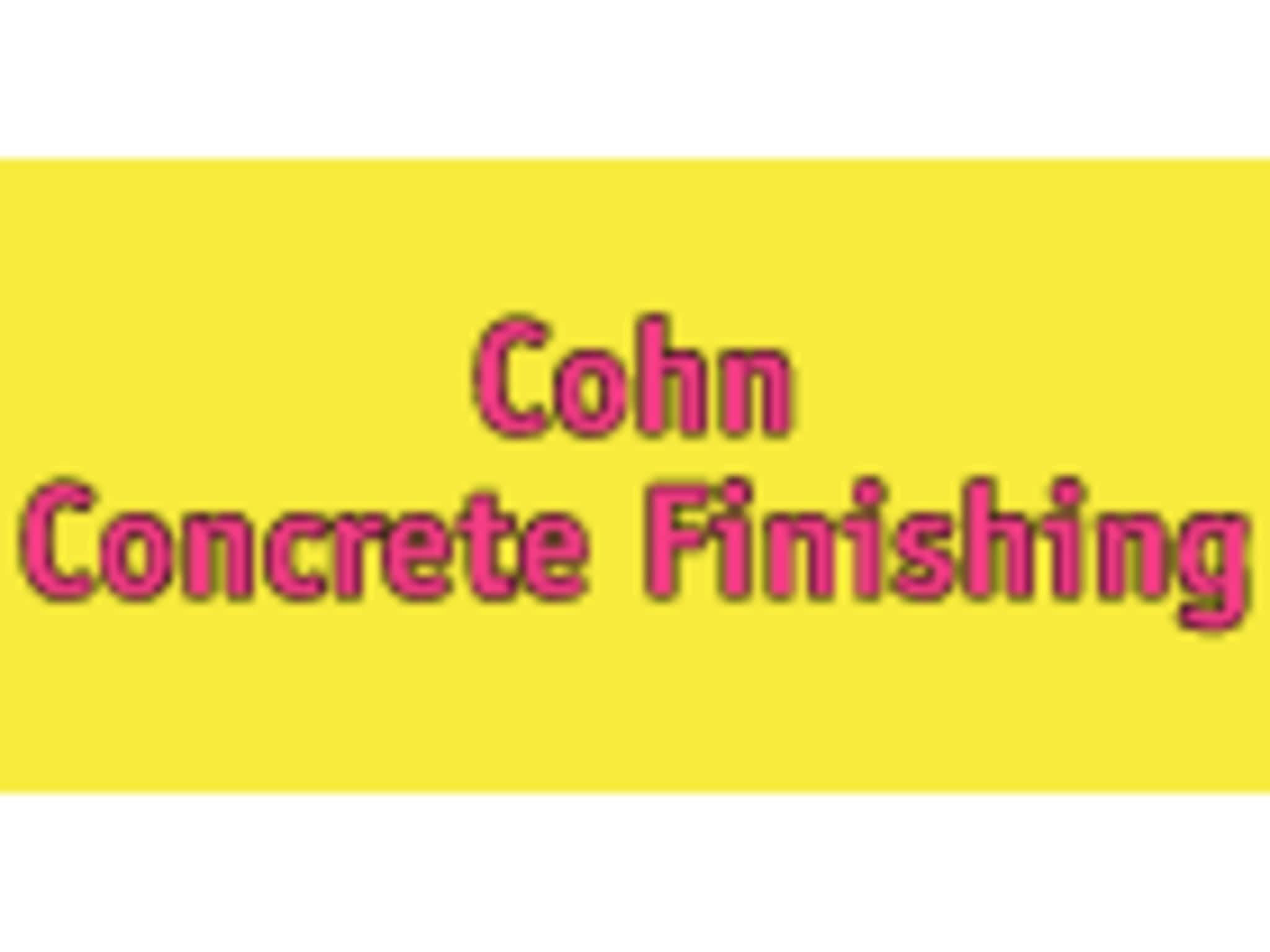 photo Cohn Concrete Finishing