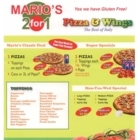 Mario's Pizza & Wings 2 for 1 - Restaurants - 519-571-7373