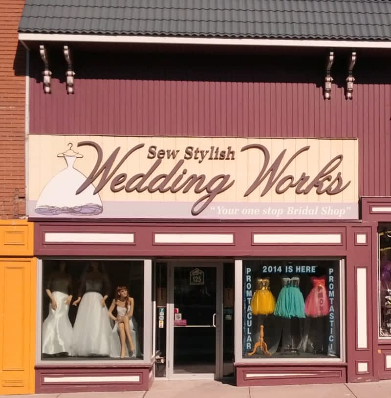Sew Stylish Wedding Works Ingersoll On 125 Thames St
