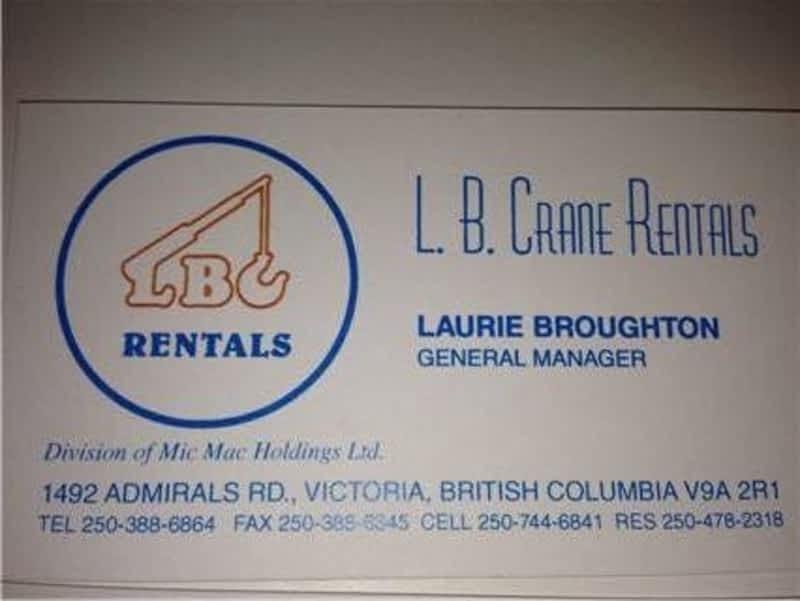 photo L B Crane Rental
