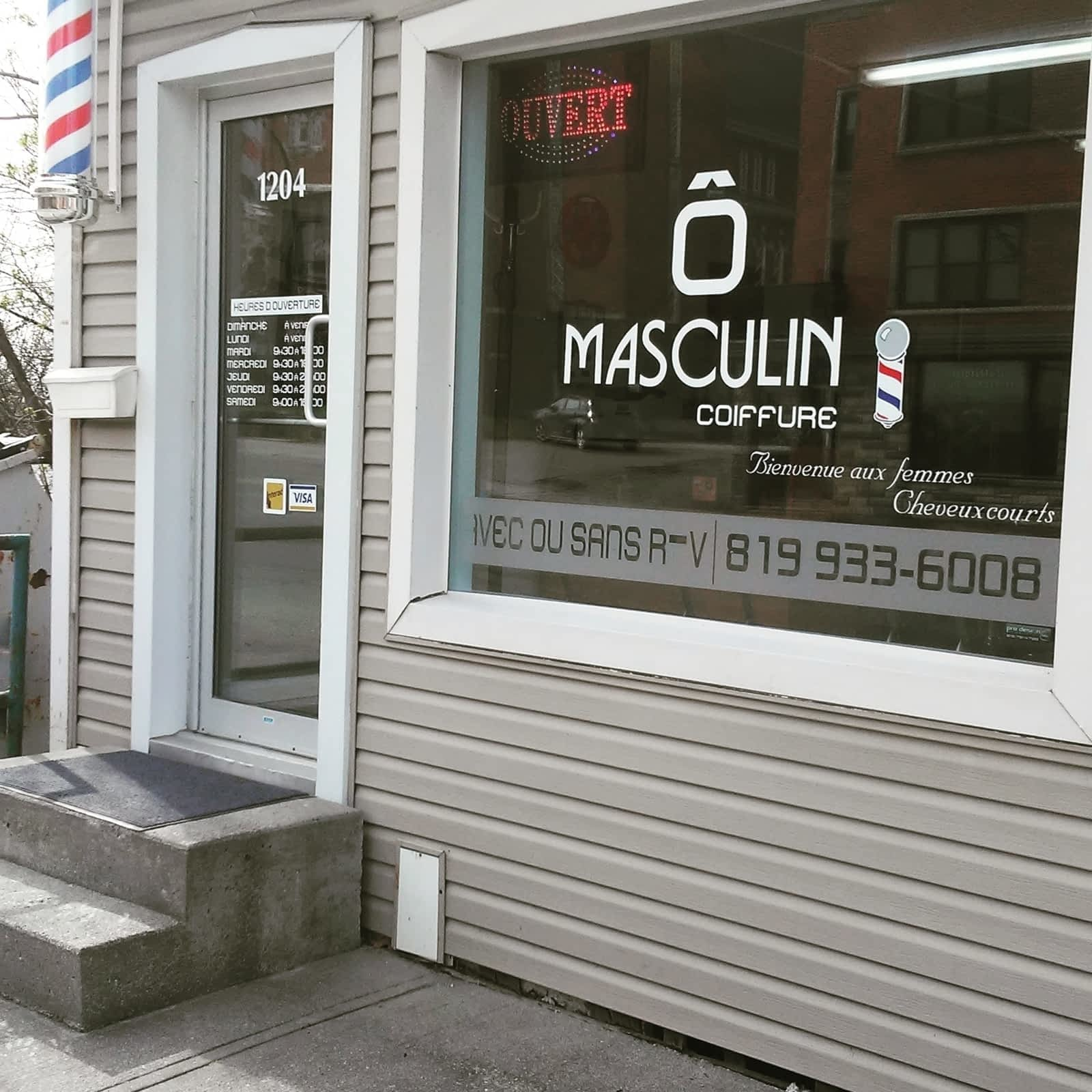 Coiffure Pour Homme O Masculin - Opening Hours - 1204 rue King O ...