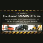 Excavation Joseph-Aimé Gagnon et Fils - Entrepreneurs en excavation