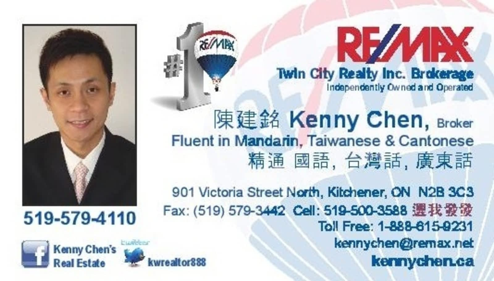 Kenny & Lori Chen - Opening Hours - 901 Victoria St N, Kitchener, ON