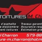 Les Toitures M Charron - Couvreurs - 579-888-1646