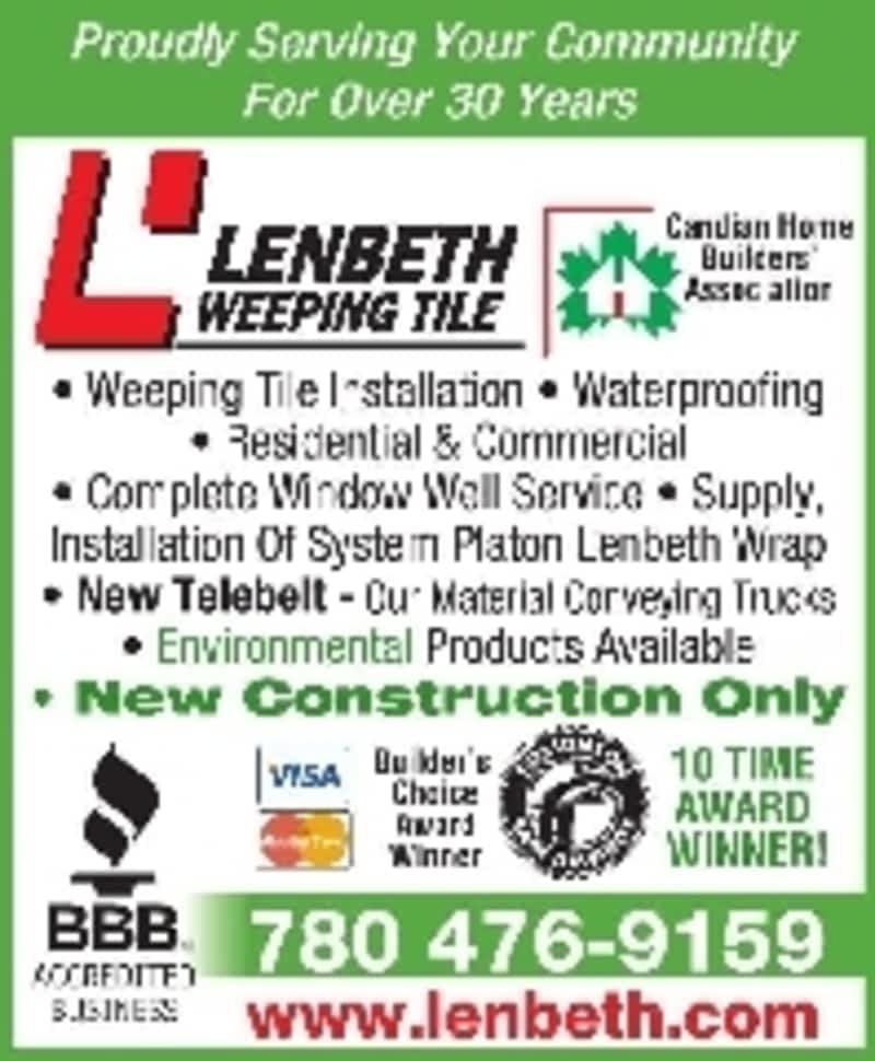 Lenbeth Weeping Tile Edmonton Ab 12820 55 St Nw