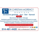 Clinique dentaire Dr Christian Morency - Service d'urgence dentaire - 514-481-4420