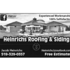 Heinrichs Roofing & Siding - Roofers - 519-329-0357