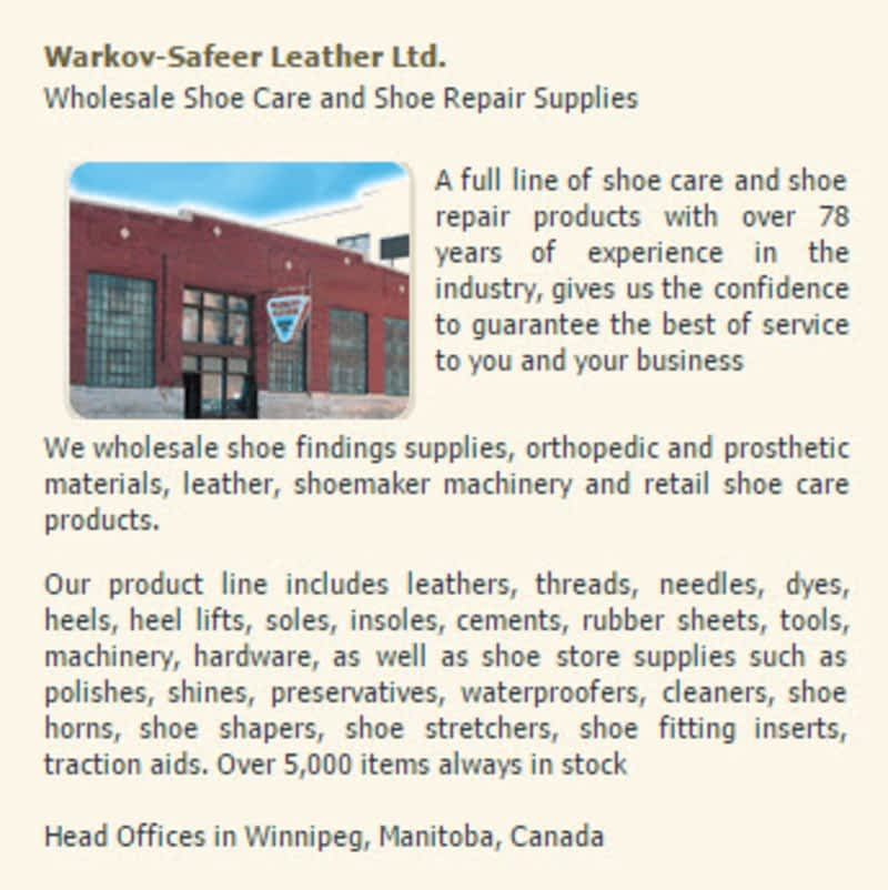 Shoe Repair Supplies Edmonton