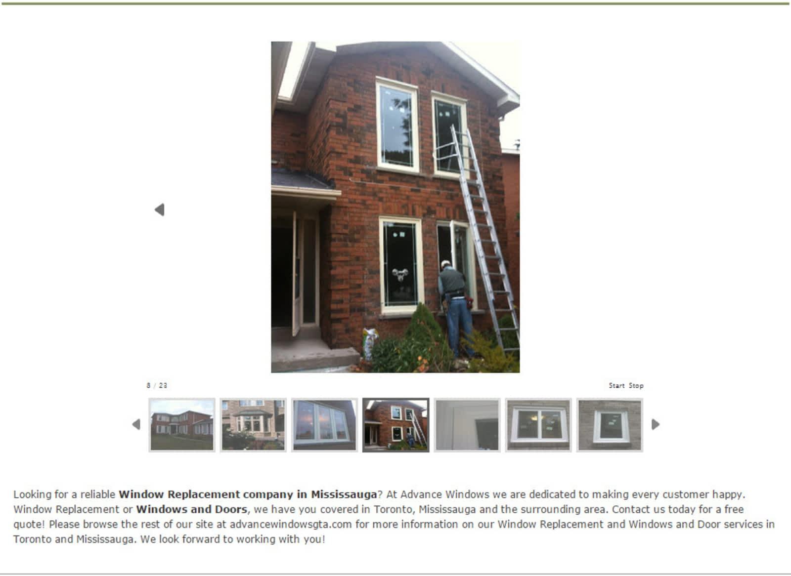 Advance Windows Doors Opening Hours 1827 2 Eva Rd Toronto On