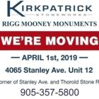 Kirkpatrick Stoneworks Ltd - Funeral Planning - 905-354-2812