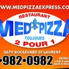 Med Pizza Express - Restaurants végétariens - 514-982-0982